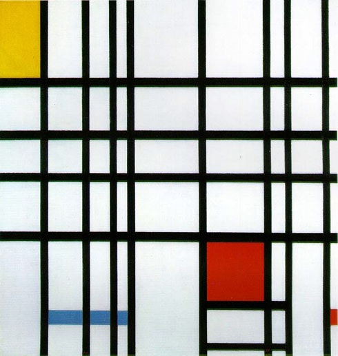 Mondrian's Composition with Yellow, Blue, and Red