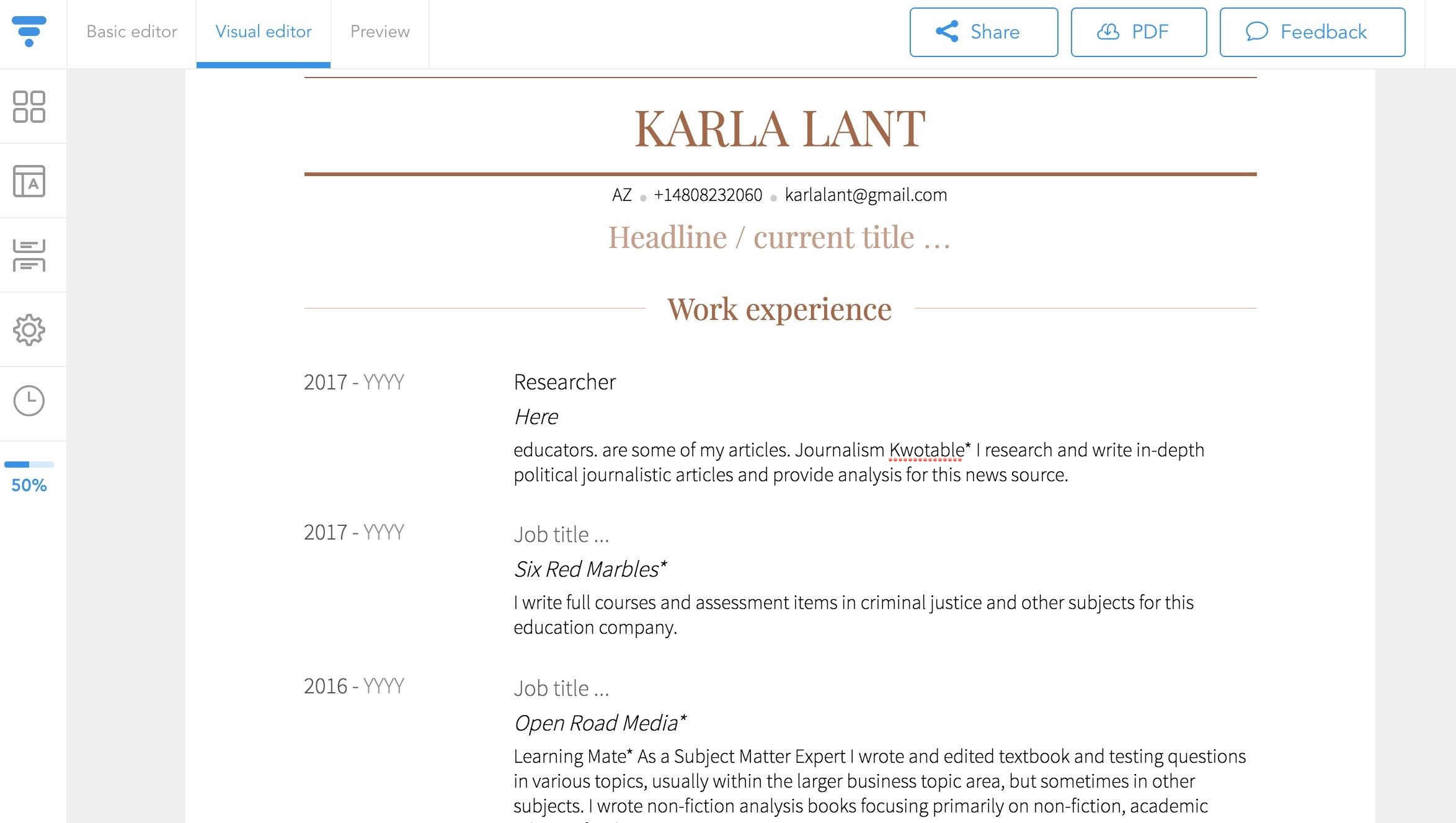 Create A Linkedin Profile And Export As Pdf Resume - Resume