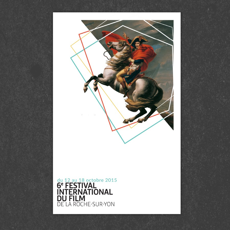 example for principle of design white space: horserider film festival poster
