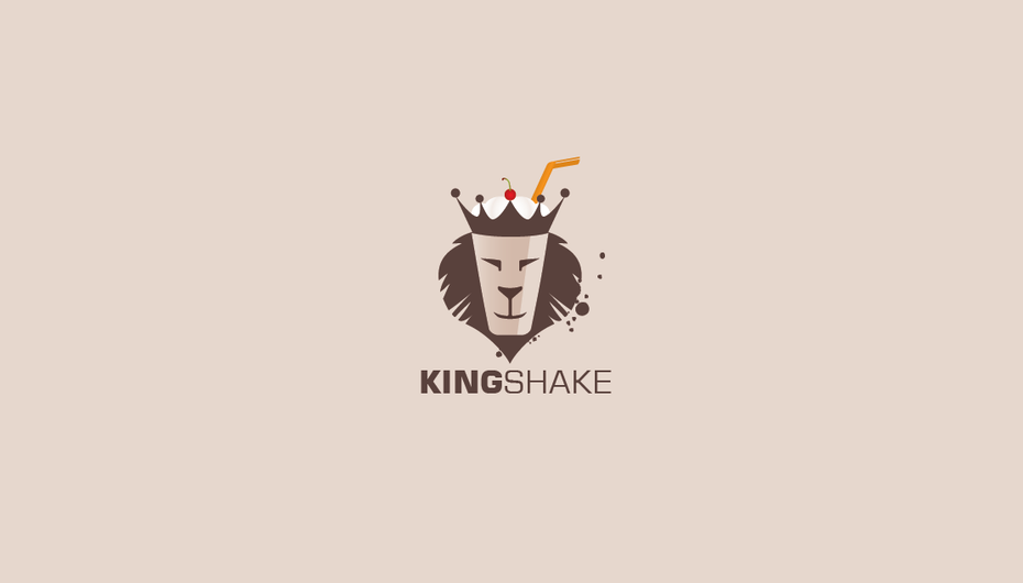 King shake logo design