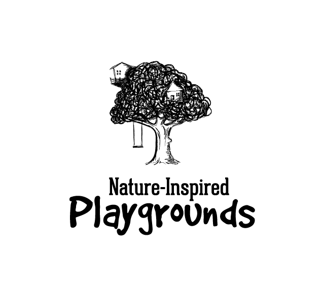 Hand-drawn black and white treehouse logo