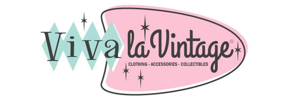 Vintage logo with pink and mint green