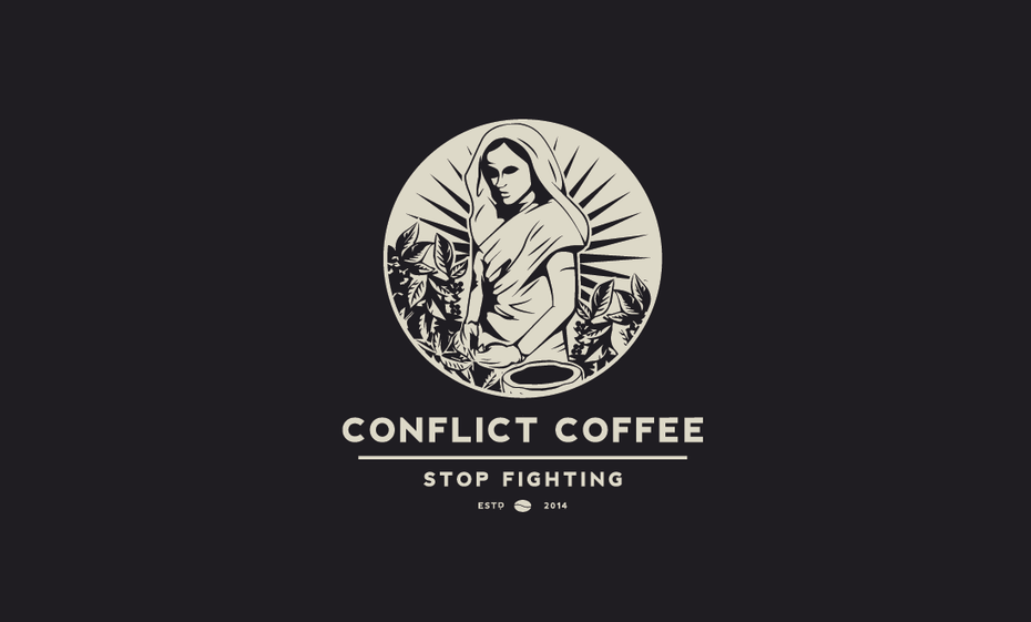 conflict coffee logo design
