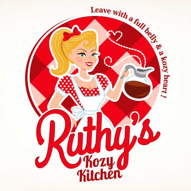 Ruthys kitchen logo design