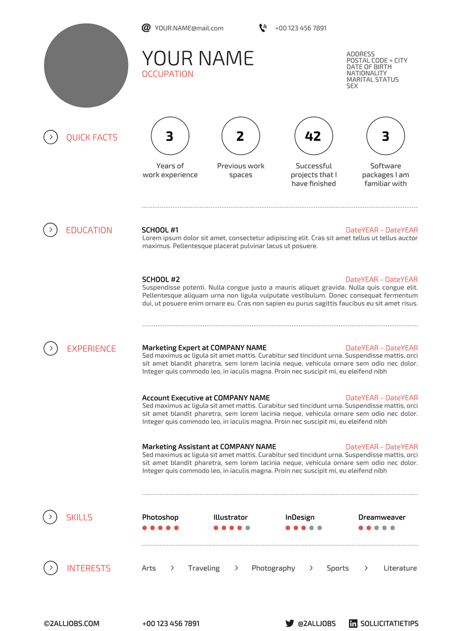 resume design with graphic elements