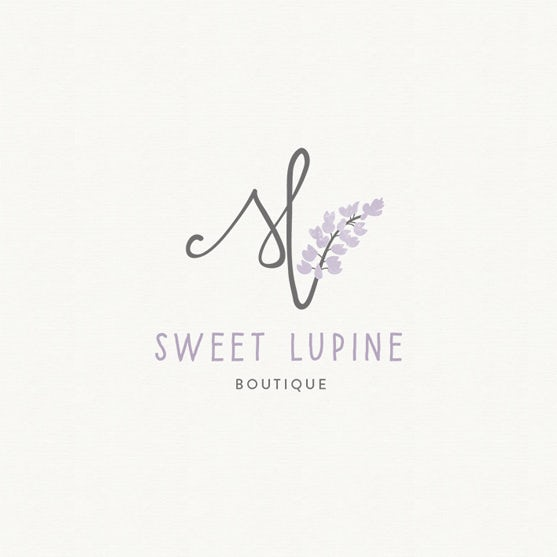 Hand-lettered logo with lavender