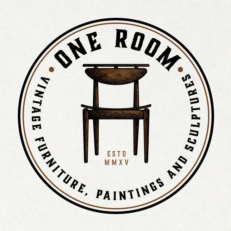 Vintage brown furniture logo