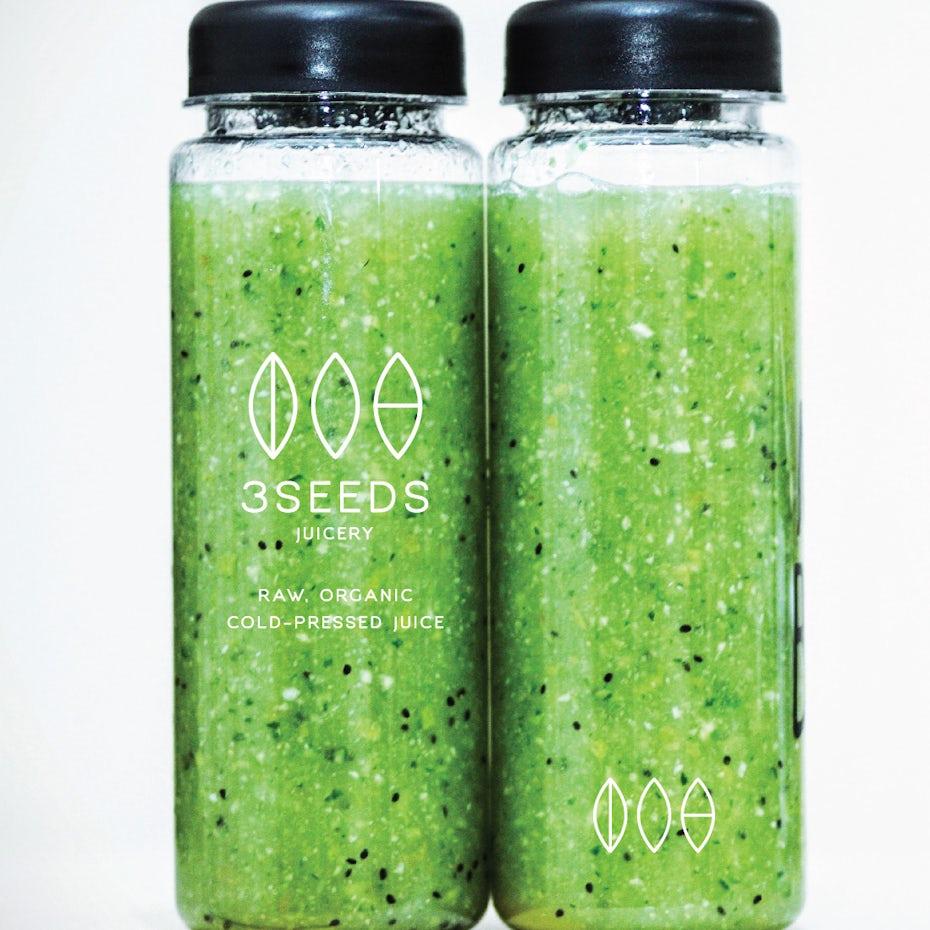 Fresh juice bottle