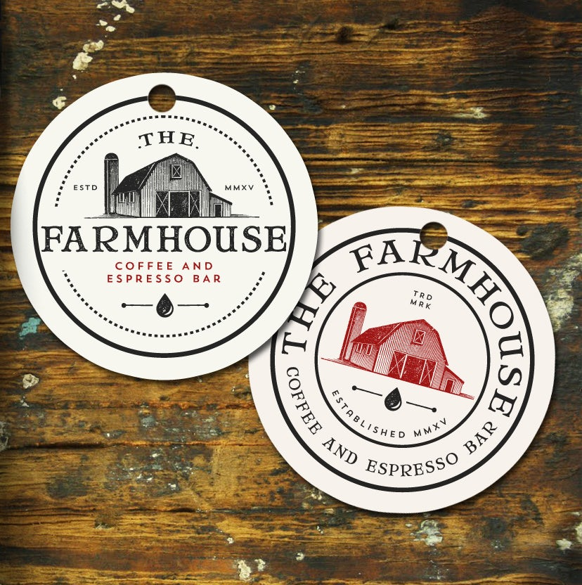 Farmhouse coffee house logo design