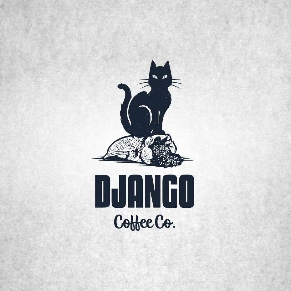 Django coffee logo design