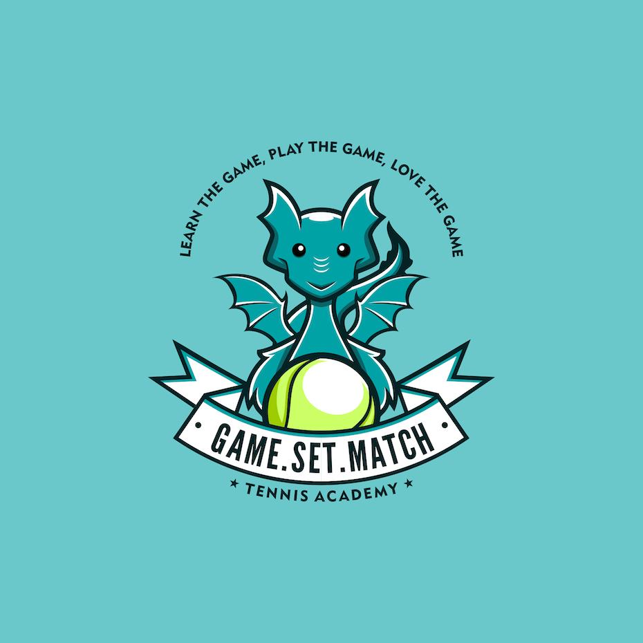 Turquoise dragon logo