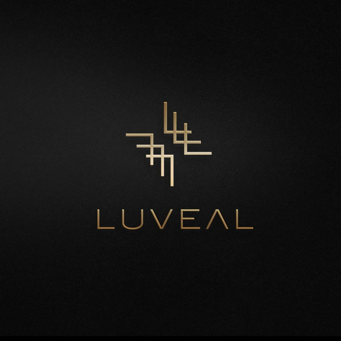 Black and gold fashion logo