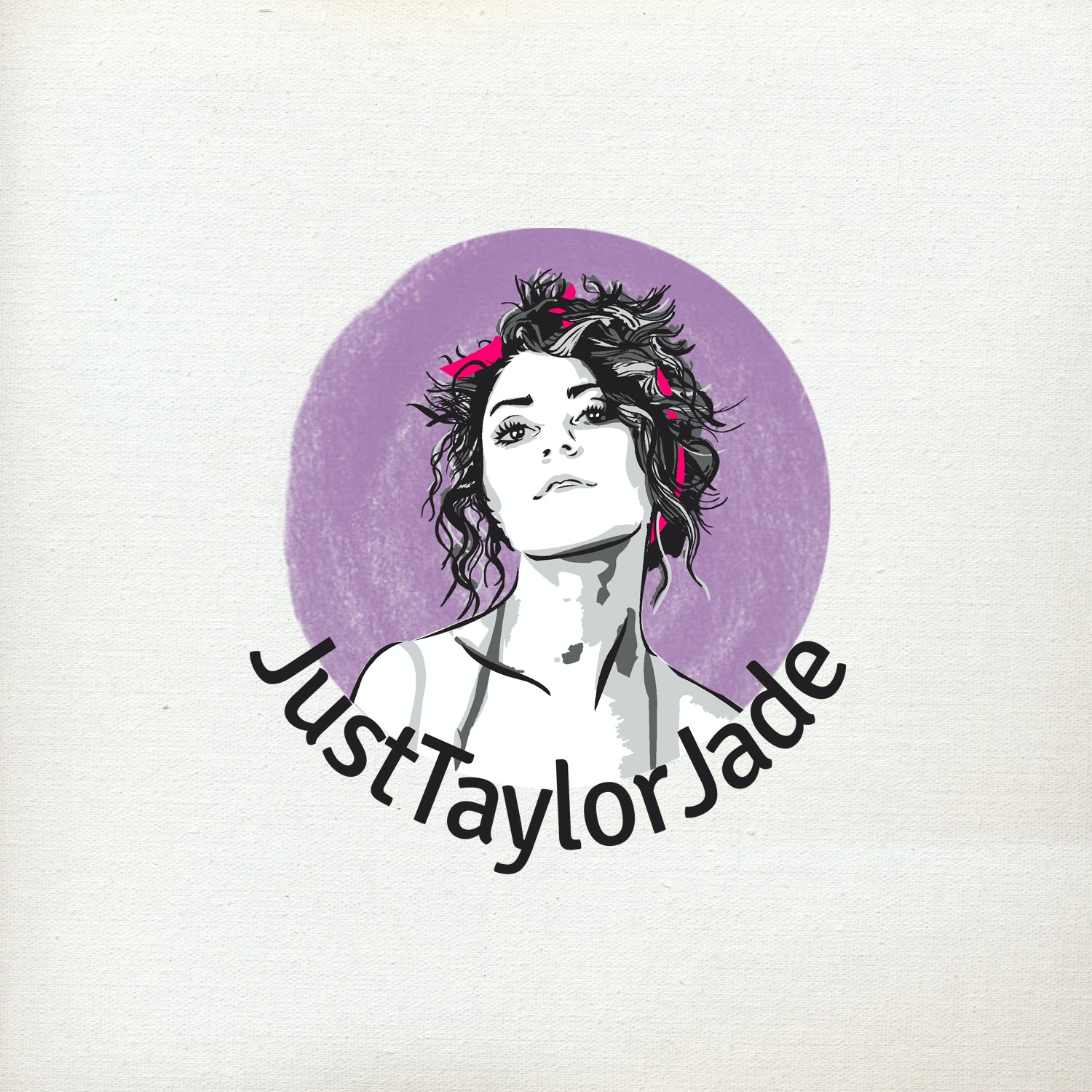 Illustrated logo with lavender]