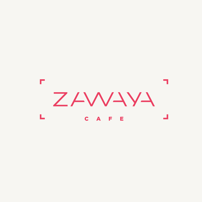 Zawaya cafe logo design
