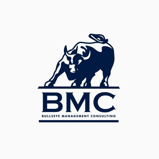 Navy blue bull logo