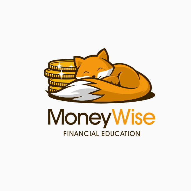 Fox with coins logo