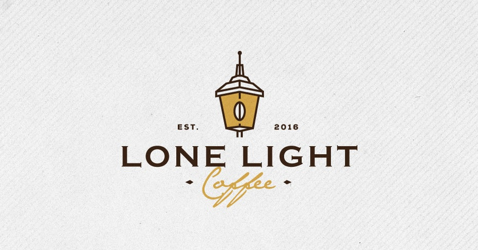 lone light coffee logo design