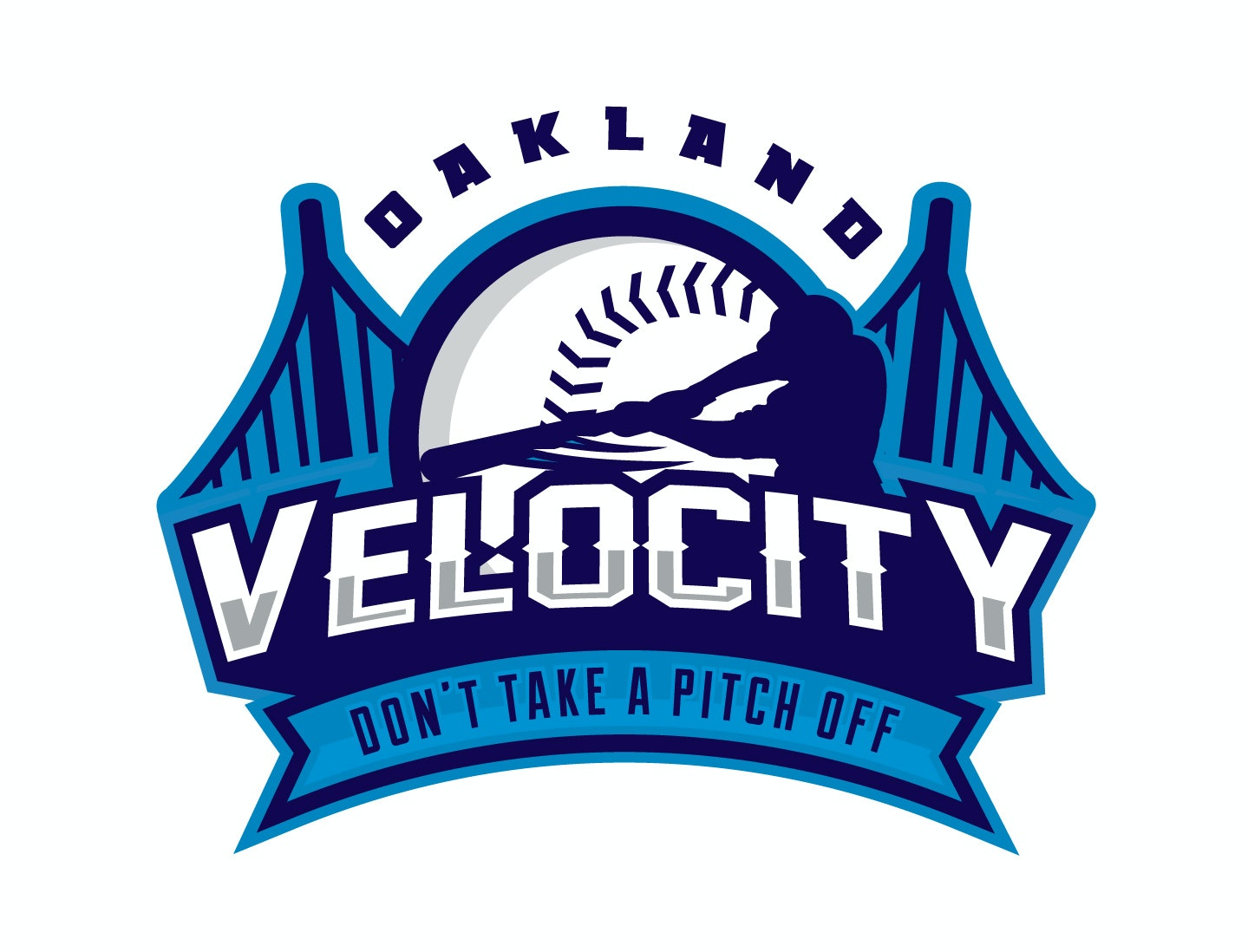 Blue baseball logo