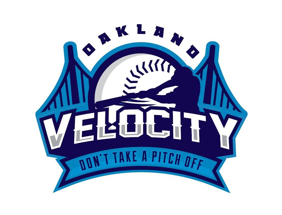 Blue baseball logo