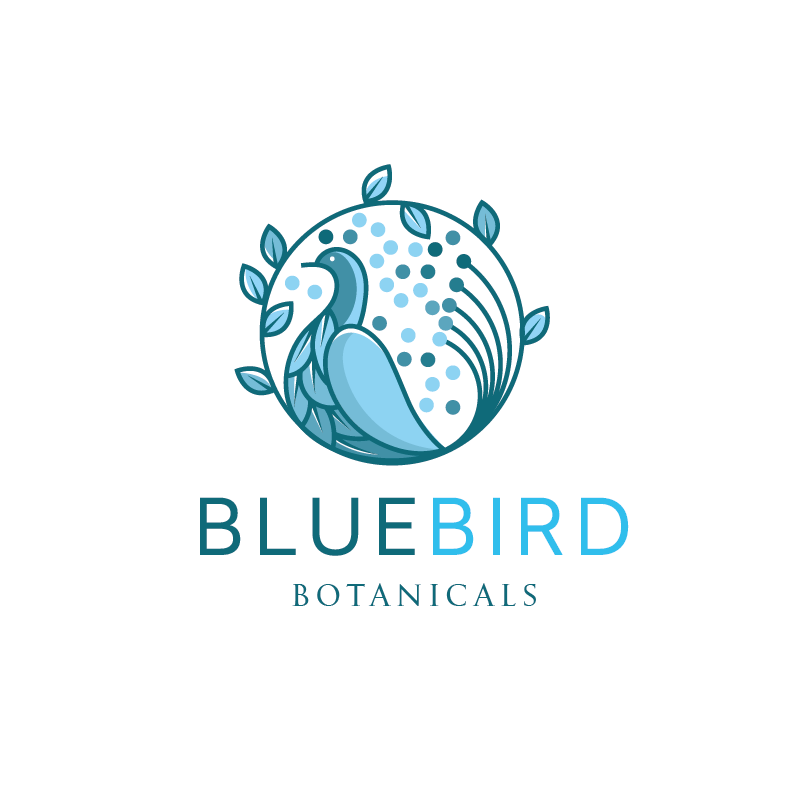 Bluebird logo in light blues