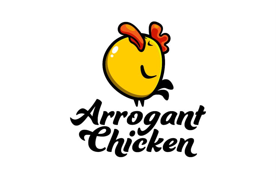Cartoon chicken logo