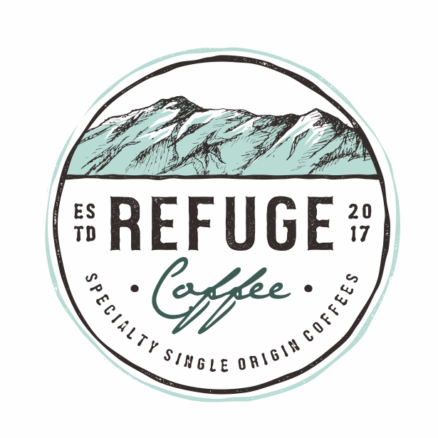 Refuge coffee logo design