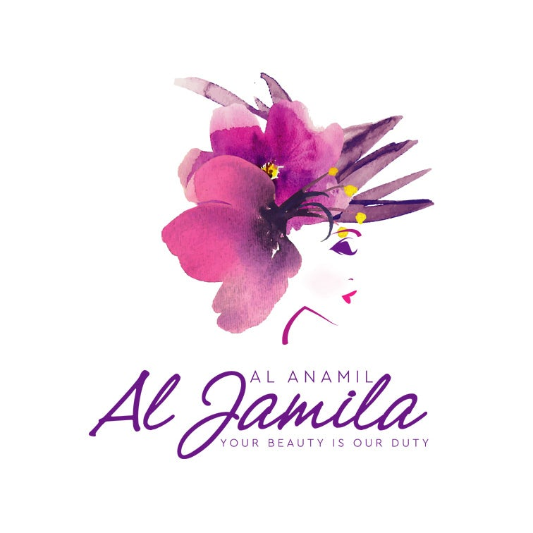 Purple watercolor logo