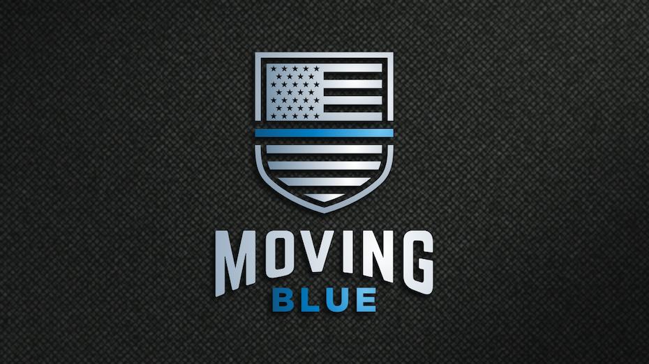 Navy blue U.S. flag shield logo