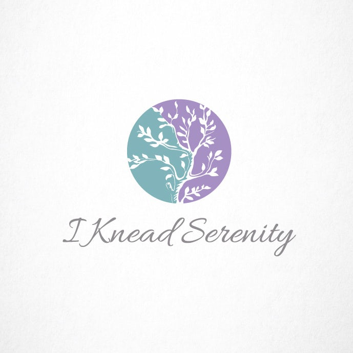 Lavender and teal botanical logo