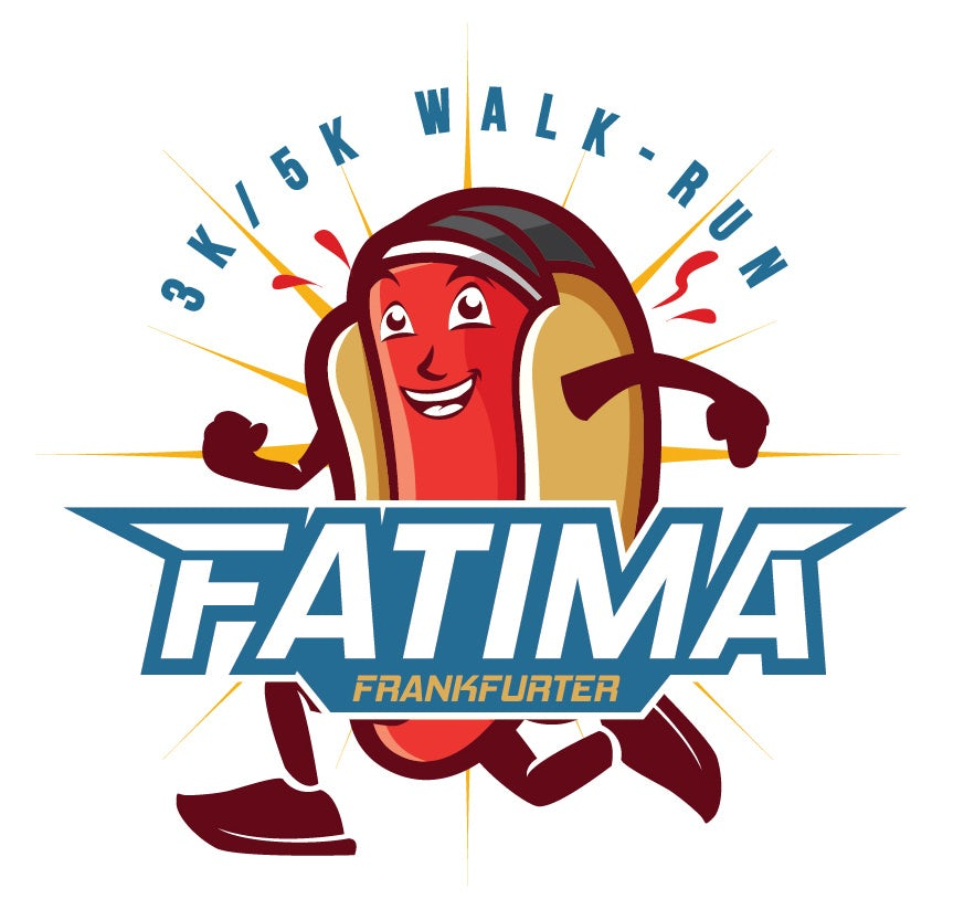 Running hot dog logo design