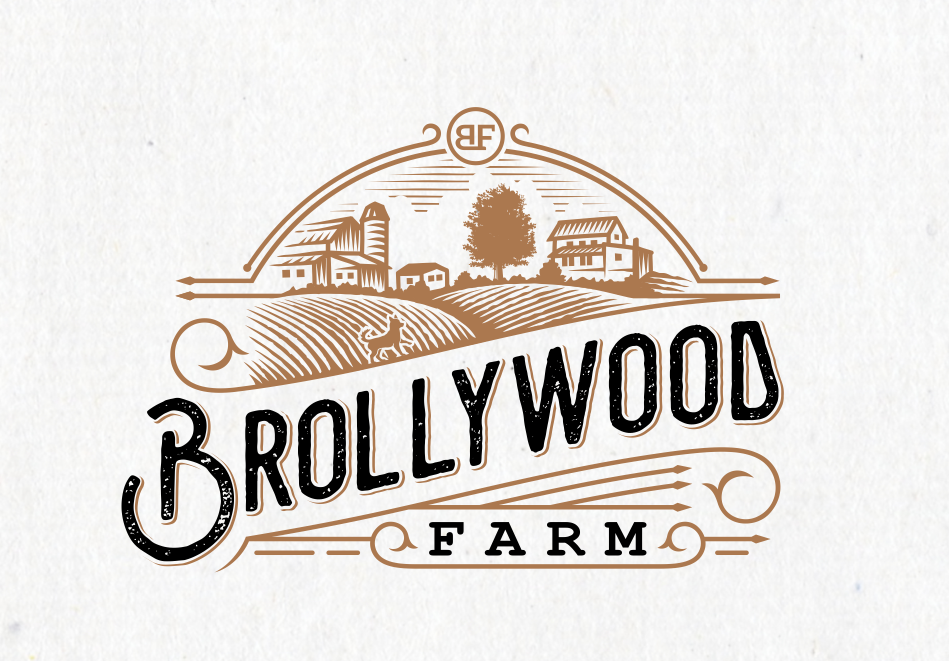 Sketched farm logo design