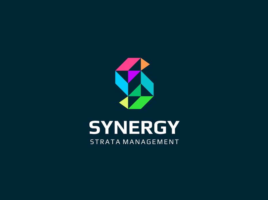 Synergy geometrisches logo design