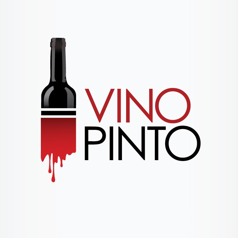 Black, red, and white wine logo