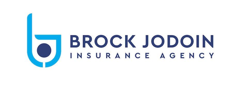 Bright blue graphic logo