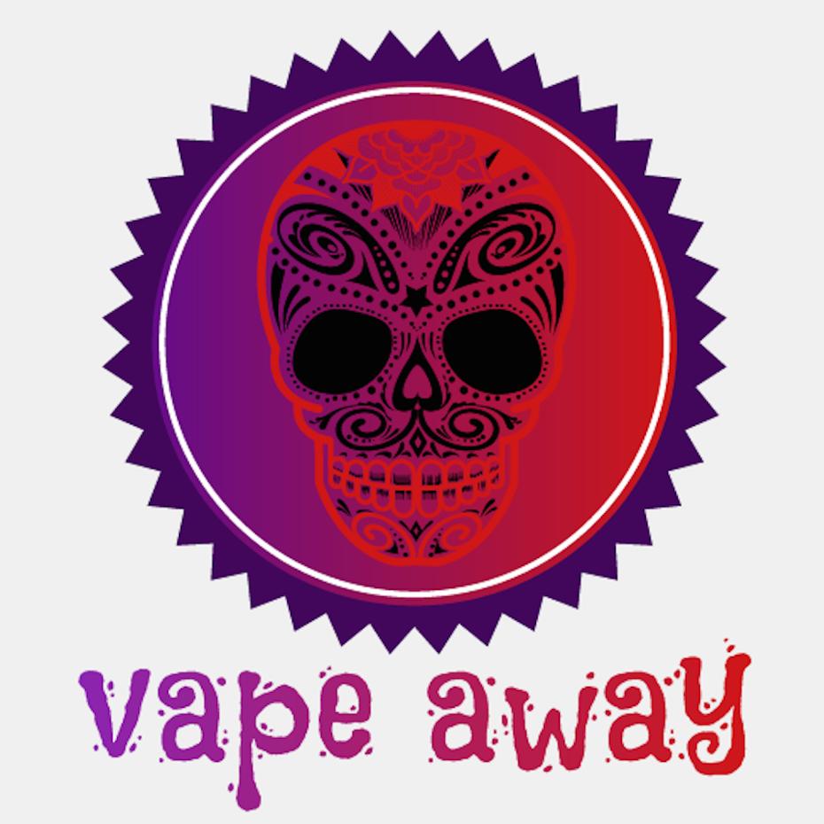 Vibrant sugar skull logo