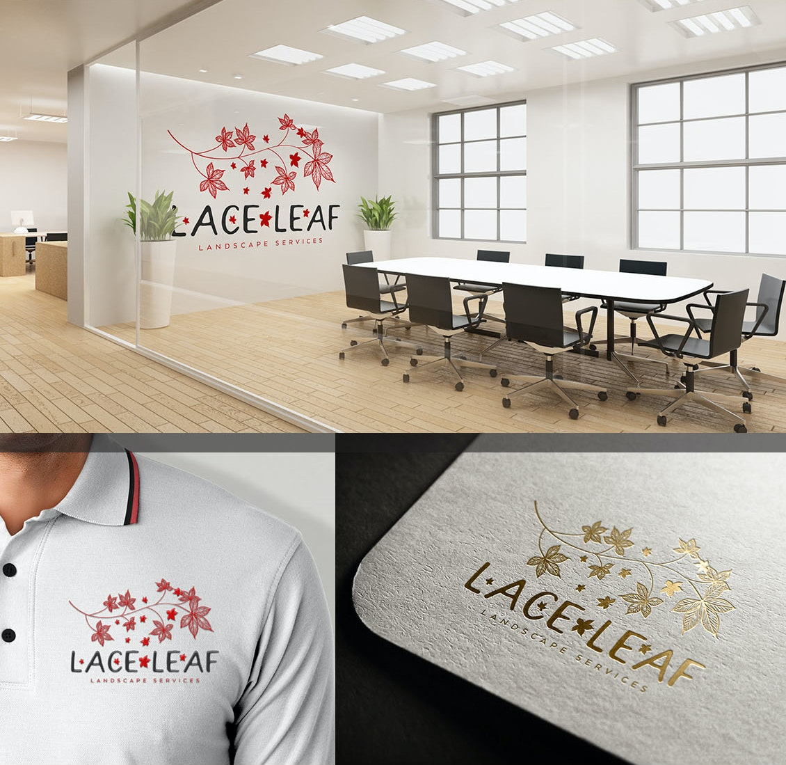 Logo design on multiple surfaces