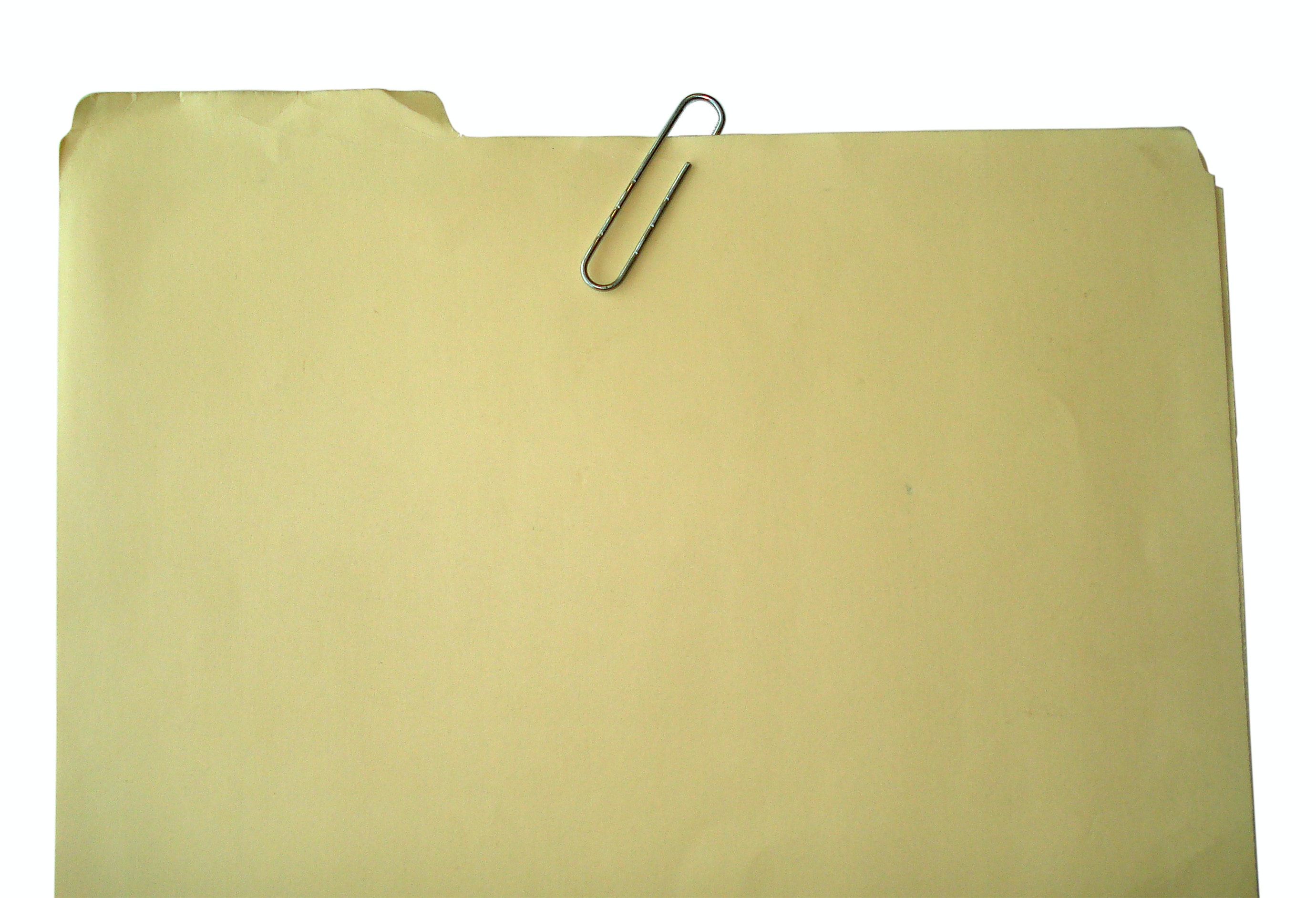 Folder with paper clip
