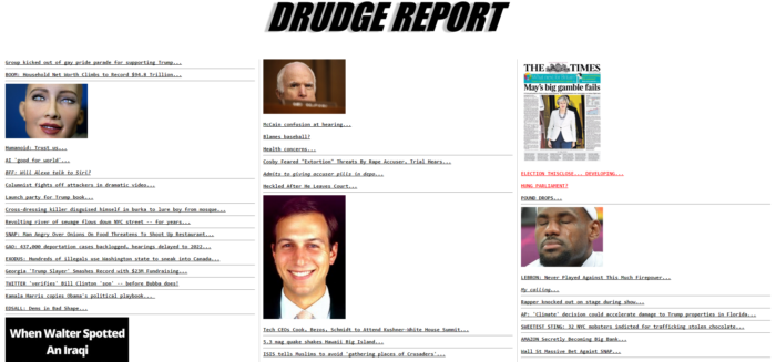 Drudge report website