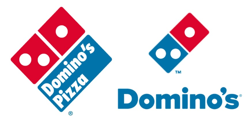 Domino's logo: before and after