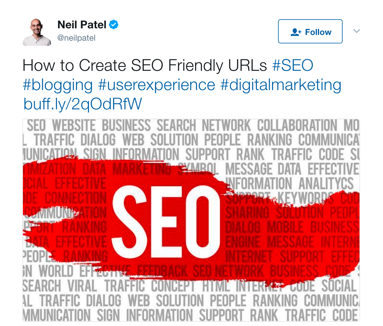 Tweet by Neil Patel