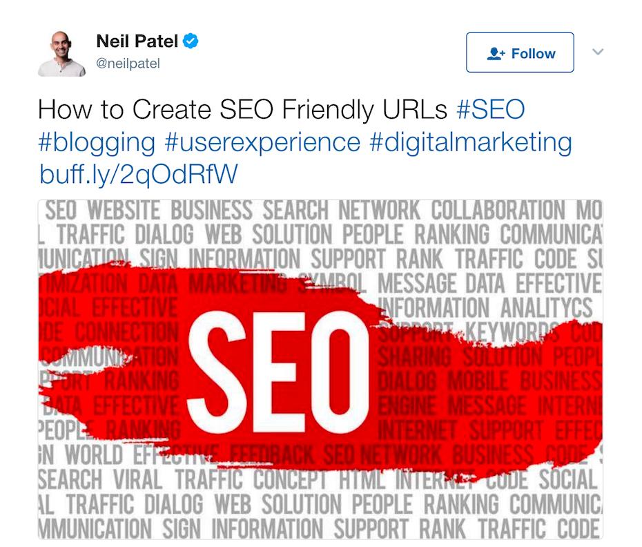 Tweet by Neil Patel
