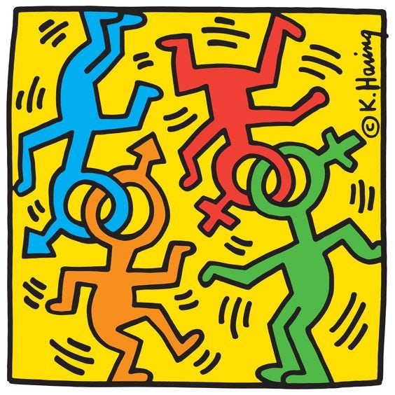 An illustration by Keith Haring