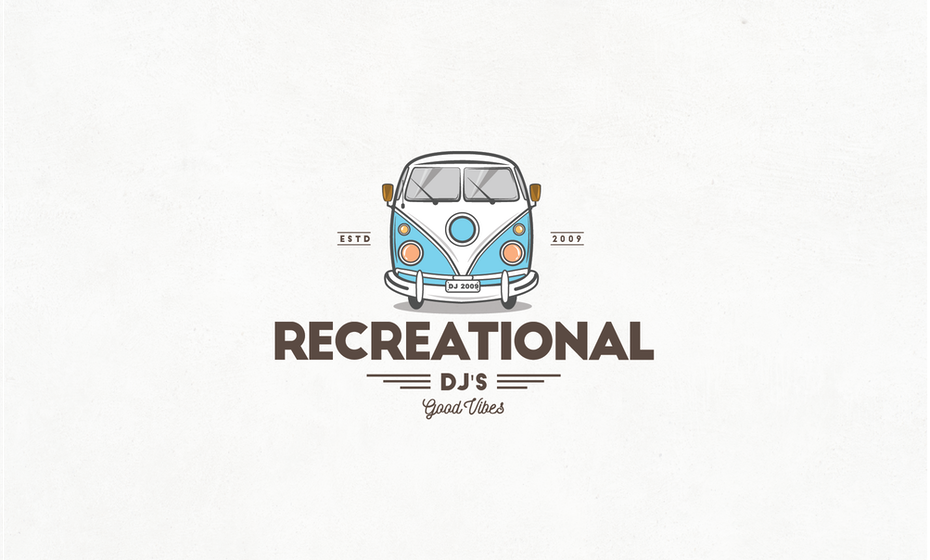 DJ logo mit minibus