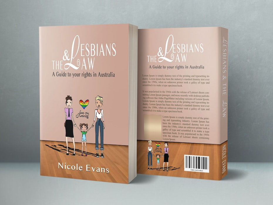 A book cover for Lesbians and the Law