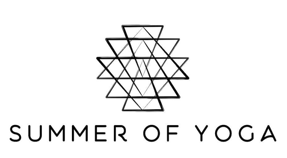 Minimalist yoga logo design