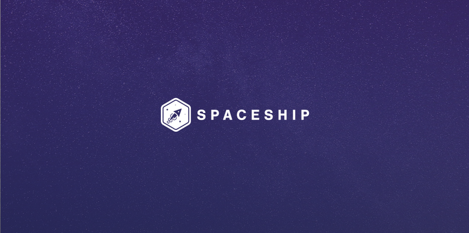 Spaceship logo design