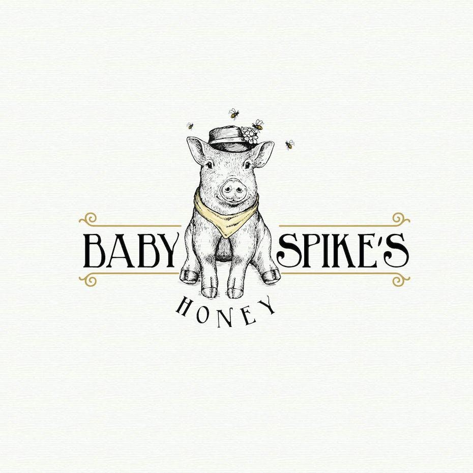 vintage pig logo