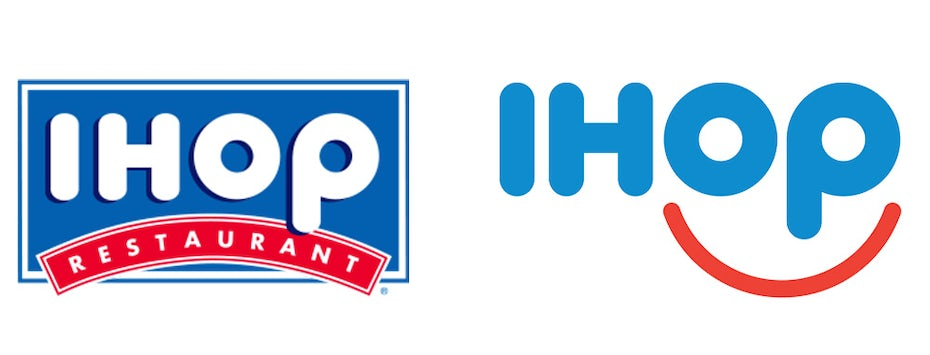 old and current IHOP logo