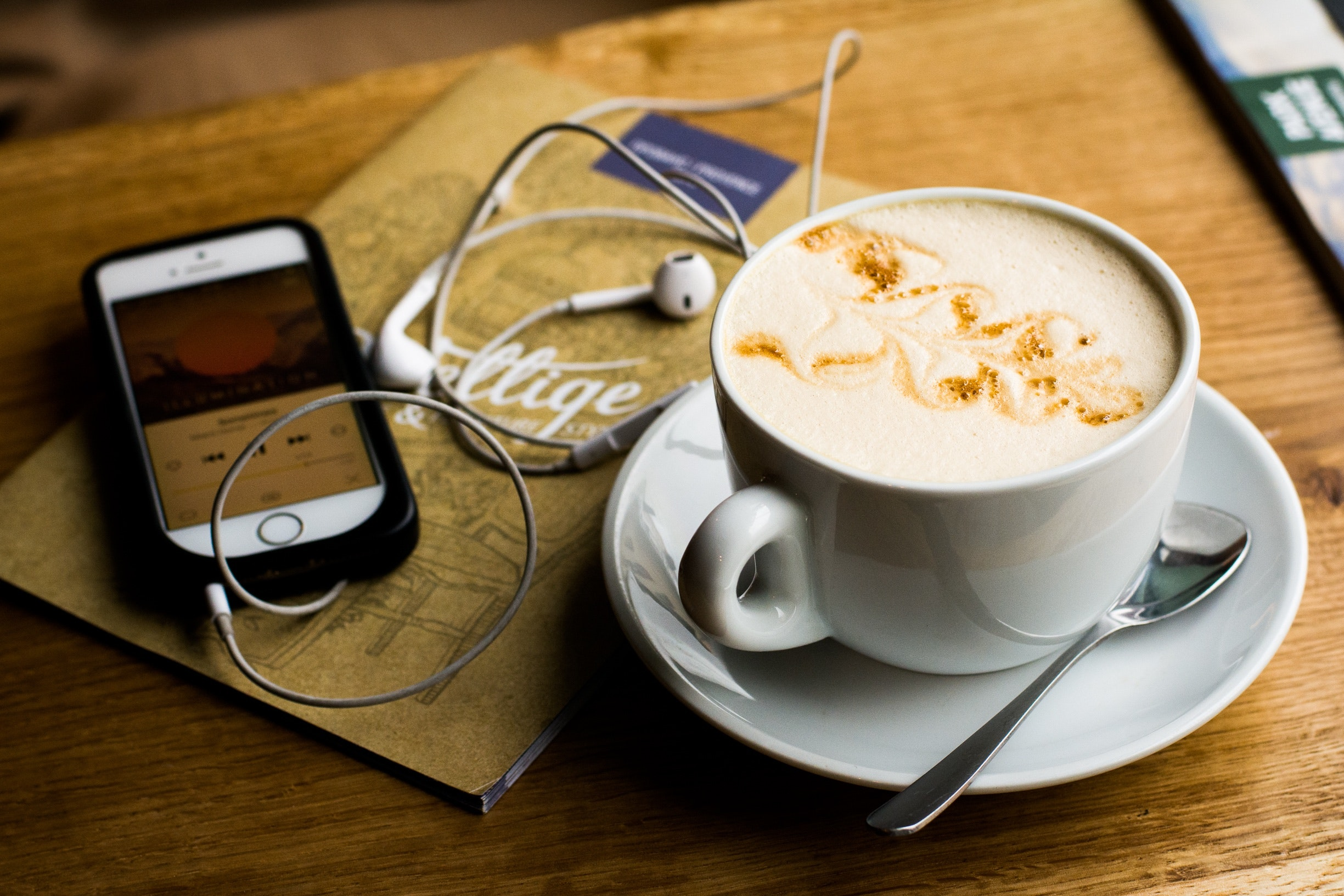 Coffee and podcasts are a great way to start your morning