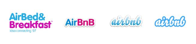 rebranding Airbnb logos
